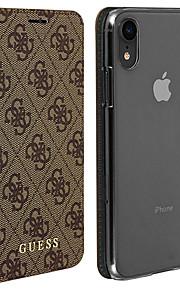 Кейс для Назначение Apple iPhone XR Бумажник для карт / Флип Чехол Геометрический рисунок Твердый Кожа PU для iPhone XR