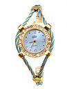 Women's Fashion Watch Bracelet Watch Wrist watch Quartz Alloy Band Blue Gold