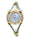 Женские Модные часы Часы-браслет Наручные часы Кварцевый сплав Группа Синий Золотистый
