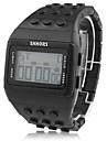 unisexe lcd bloc briques montre-bracelet de bande de style numérique (noir)