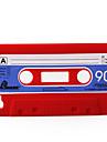 étui de protection souple cassette unique pour iPhone 4 (rouge)