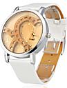 Women's Quartz Wrist Watch Japanese Imitation Diamond Silicone Band Sparkle Heart shape Fashion White