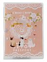 choo choo gato estilo saco de viagem credenciais (rosa)