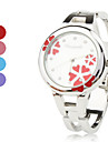 Women's Quartz Analog Flower Pattern Dial Silver Alloy Band Bracelet Watch (Assorted Colors) Cool Watches Unique Watches Fashion Watch Strap Watch