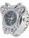 модные сплава женщин аналоговые часы кольцо с в форме бабочки случае (серебро)