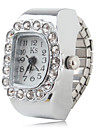 Women's Fashionable Alloy Analog Ring Watch (Silver)