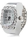 модные сплава женщин аналоговые часы, кольцо (серебро)