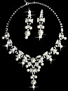 Rhinestone Pearl Wedding Party Anniversary Birthday Engagement Gift Daily Alloy Earrings Necklaces