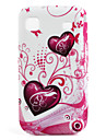 Heart Styled Protective Case for Samsung i9000 (White)