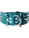 Adjustable Leather Rivet Style Dog Collar (Assorted Colors)
