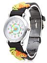 мультфильм лев силиконовые аналоговые кварцевые наручные часы (черный)