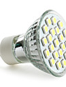 3W 6000 lm GU10 Lampadas de Foco de LED MR16 21 leds SMD 5050 Branco Natural AC 220-240V
