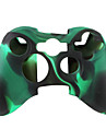 Protective Dual-Color Silicone Case for Xbox 360 Controller (Black and Green)