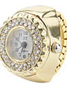 Women's Golden Style Alloy Analog Quartz Ring Watch (Gold)