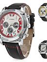 Men's Stylish Sports PU Analog Quartz Wrist Watch (Assorted Colors)