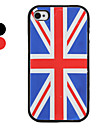 UK Flag Pattern Style Silicone Case for iPhone 4 and 4S (Assorted Colors)