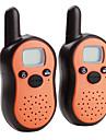 Mini 8-Channel Walkie Talkie (5KM Range, 2-Pack, Orange)