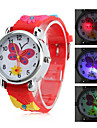 Children's Butterfly Style Silicone Analog Quartz Wrist Watch with Flashing LED Light (Red) Cool Watches Unique Watches