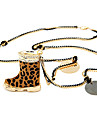 Fashion Leopard Print High Heel Necklace