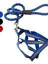 개 하니스 반사적인 레드 / 블랙 / 블루 직물