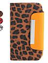 Case em Pele com Suporte para iPhone 4 e 4S - Leopardo (Várias Cores)