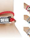 femmes montre-bracelet analogique pu quartz (couleurs assorties)
