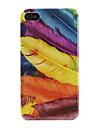 아이폰 4와 4S를위한 깃털 패턴 하드 케이스