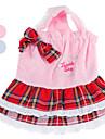 кружево бархатное платье с шотландской клетчатой юбки для собак (XS-XL, разные цвета)