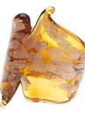 나비 패턴 색 유약 링