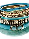 Muti-ring Colourful Grain Alloy Bracelet(Seven Bracelets a Set)