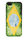 Retro Brazilian Flag Pattern Hard Case for iPhone 5/5S