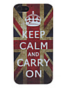 Жесткий ретро чехол с флагом Великобритании для iPhone 5