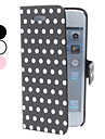 Round Spot Pattern PU Leather Case for iPhone 5/5S (Assorted Colors)