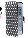 Boîtier rond en cuir d'unité centrale de modèle de point pour l'iphone 5/5s (couleurs assorties)