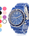 Men's Simple Design Silicone Analog Quartz Wrist Watch (Assorted Colors)