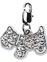 Dog Tag Rhinestone Cartoon Design