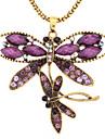 Dragonfly Pattern Античное золото бирюзовый ожерелье