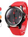 Мужские аналоговые кварцевые наручные часы с силиконовым ремешком (разные цвета)