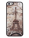 For iPhone 5 Case Pattern Case Back Cover Case Eiffel Tower Hard PC iPhone SE/5s/5