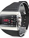 Men's Multi-Functional Style Rubber Multi-Movement Analog-Digital Wrist Watch (Black) Cool Watch Unique Watch
