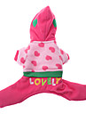 Dog Hoodie Dog Clothes Embroidered Pink Costume For Pets