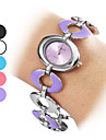 Femme Montre Tendance Montre Bracelet Bracelet de Montre Quartz Bande Bayadere Blanc Noir Violet Bleu Rose