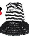 Dog Dress Red / Black / White Summer Stripe