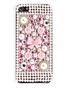 Rhinestones Style Rose and Bowknot Pattern Hard Case for iPhone 5/5S