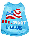 Chien Tee-shirt Vetements pour Chien Drapeau National Amerique / Etats-Unis Coton Costume Pour les animaux domestiques Homme Femme