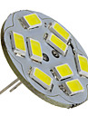 2W G4 LED Spotlight 9 SMD 5730 230lm Natural White 6000K DC 12V