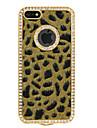 lint zircão leopardo caso difícil padrão para o iphone 5/5s (amarelo)