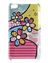 Cas motif fleur dur pour iPod Touch 4