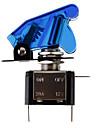 DIY Синий светодиодной подсветкой Включить / выключить переключатель для автомобиля (12V 20A)