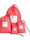 Portable Waterproof Drawstring Storage Bags Set for Travel (Assorted Color,4-Piece)